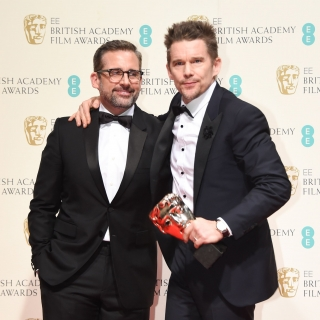Steve Carell and Ethan Hawke at the 68th BAFTA Film Awards