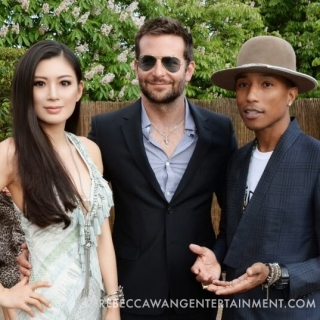 Rebecca Wang Bradley Cooper and Pharrell Williams