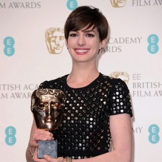 Anne Hathaway at the 66th BAFTA Film Awards