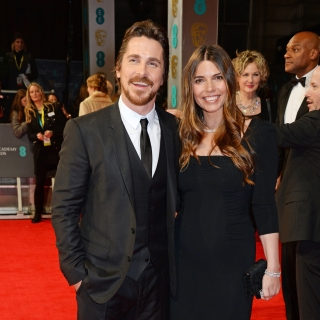 Christian Bale arrives at the 67th BAFTA Film Awards