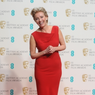Emma Thompson arrives at the 67th BAFTA Film Awards